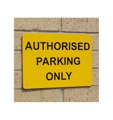 Authorised Parking Only Wall Mounting Sign