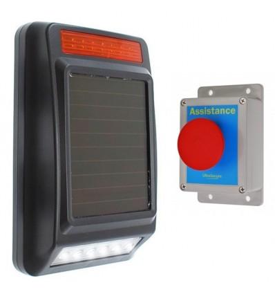 Long Range Wireless Siren & Strobe Alert System (no power required)