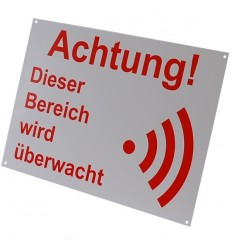 German A4 External Alarm Warning Sign