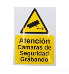 A5 External CCTV Warning Sign (Spanish Language)