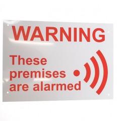 English A4 External Alarm Warning Sign