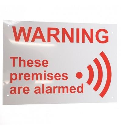 A4 External Alarm Warning Sign