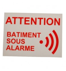 French Alarm Warning Window Sticker