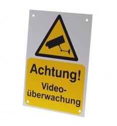 German A5 External CCTV Warning Sign