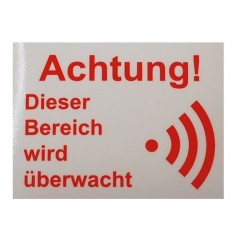 German Language Alarm Warning Window Sticker