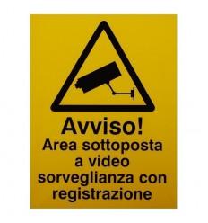 Italian CCTV Warning Window Sticker