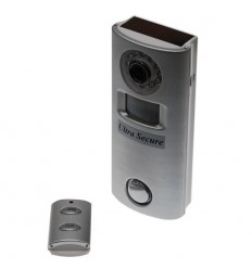 Alarm & CCTV (Battery Powered Remote Control Silver Alarm with Covert CCTV).