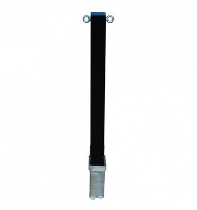 H/D Black 100P Removable Parking Post & Chain Eyelets