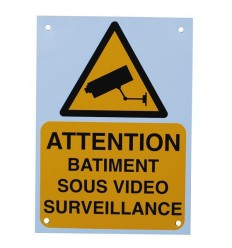French A5 External CCTV Warning Sign