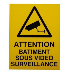 French CCTV Warning Window Sticker