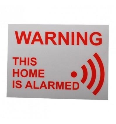 Home Warning Window Sticker