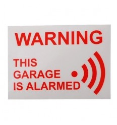 Garage Warning Window Sticker