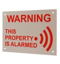 A5 External Alarm Warning Sign