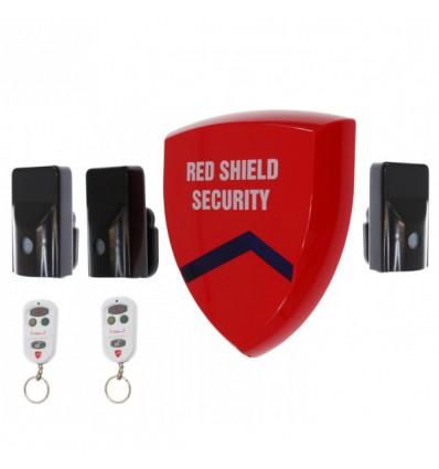 External Battery Wireless Smart Siren Alarm & 3 x PIR's