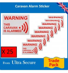 Caravan Warning Window Sticker