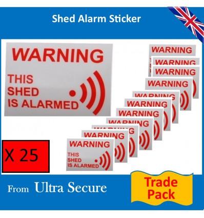 Shed Warning Window Sticker
