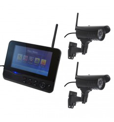 Wireless CCTV with 2 x 20 metre Night Vision Cameras