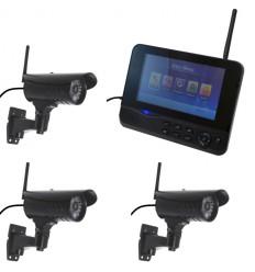 300 metre Wireless CCTV & 3 x 20 metre Night Vision External Cameras