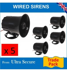 Five x Hard Wired 118 Db Sirens