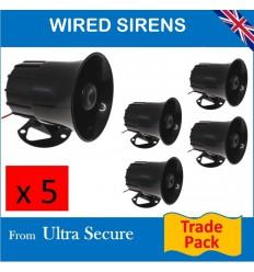 Five x Hard Wired 118 Db Sirens